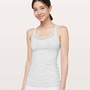 Lululemon Rally Your Heart Tank Grey and White